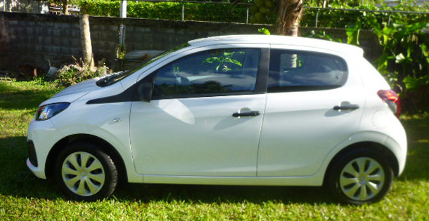Location voiture catégorie A - Peugeot 108 Omerloc Guadeloupe